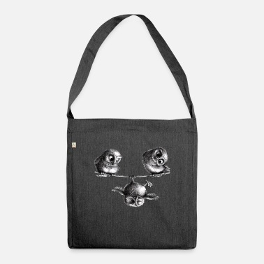 Owl three owls - freedom and fun - Shoulder Bag recycled