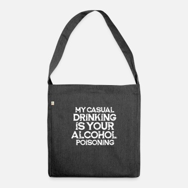 Alcoholic alcohol - Shoulder Bag recycled