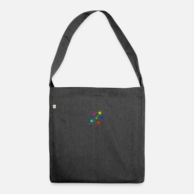 color blob colorful techno rave - Shoulder Bag recycled
