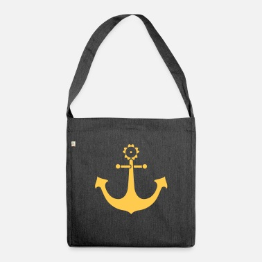 Holiday anchor - Shoulder Bag recycled