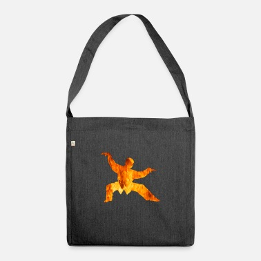 Jiujitsu Karate Fire Silhouette - Shoulder Bag recycled