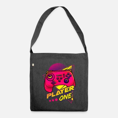 Video Game Players Controller One Video Game Player - Shoulder Bag recycled