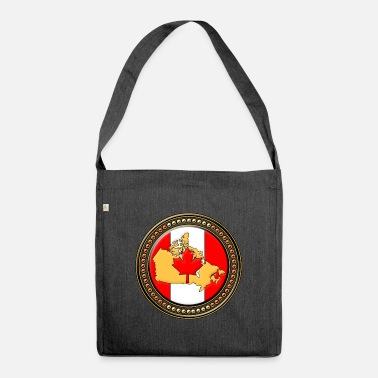 Canada Canada flag map - Shoulder Bag recycled
