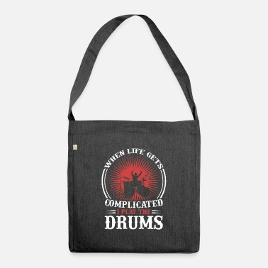 Drummer Drummer drummer drummer gift - Shoulder Bag recycled