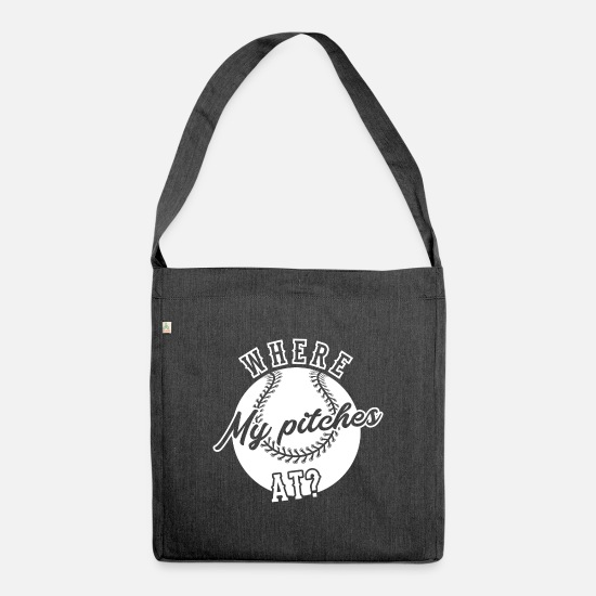 Baseball Bags & Backpacks - Baseball baseball player - Shoulder Bag recycled heather black
