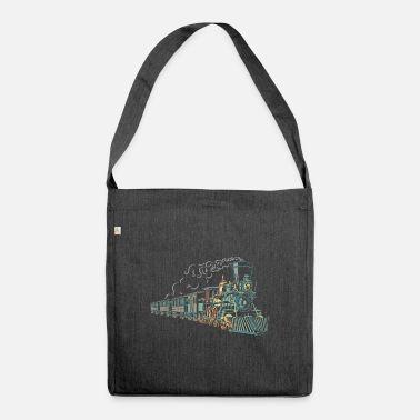 Engine steam locomotive - Shoulder Bag recycled