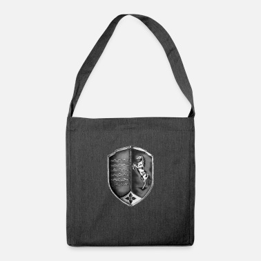 Knights / Crests / Shield - waves and horse - Shoulder Bag recycled