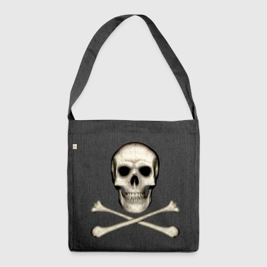 Skull and Crossbones - Shoulder Bag made from recycled material
