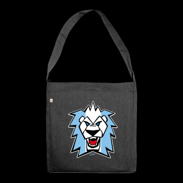 Lion - Lion - blue white - Shoulder Bag made from recycled material