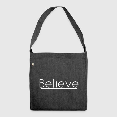 Believe in white - Shoulder Bag made from recycled material