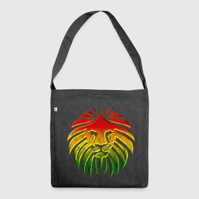 LIKE A LION, Reggae Music Lion, Rasta Revolution, - Shoulder Bag made from recycled material
