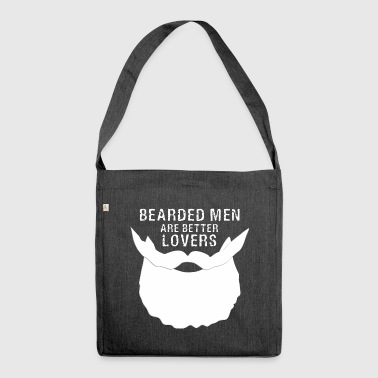 Bearded Men are better lovers Barber Shop Sex Gift - Shoulder Bag made from recycled material