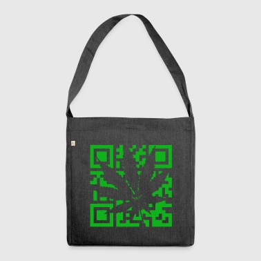 QR code Cannabis - Marijuana THC CBD Code Leaf - Shoulder Bag made from recycled material