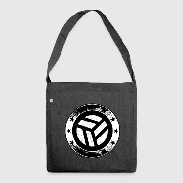 Volleyball emblem - ball net volley symbol sport - Shoulder Bag made from recycled material