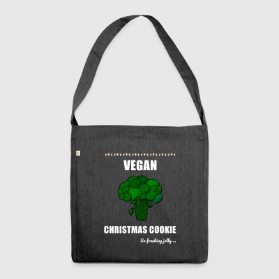 Funny Vegan Christmas Cookie - Schultertasche aus Recycling-Material