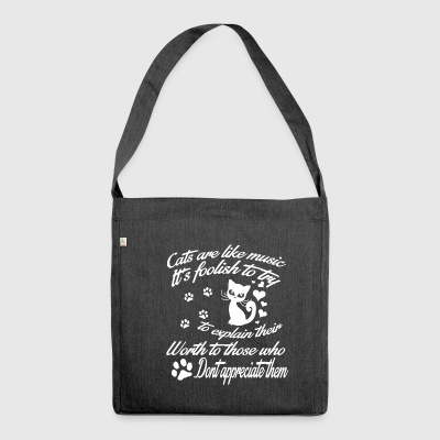 Cats are English like music T-shirt - Shoulder Bag made from recycled material