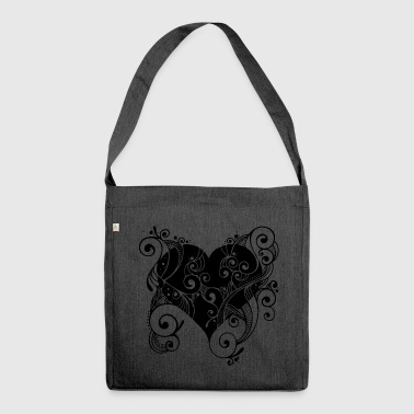 Heart in bloom - Shoulder Bag made from recycled material