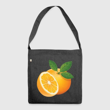 Orange - Schultertasche aus Recycling-Material