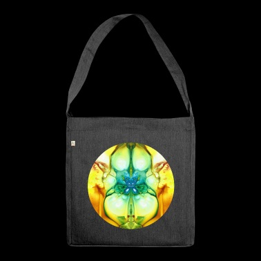 Circular pattern # 1 - Shoulder Bag made from recycled material