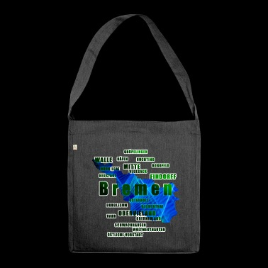 Bremen - its neighborhoods - Shoulder Bag made from recycled material
