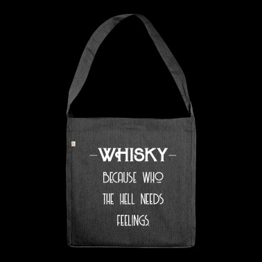 Whisky Feelings - Whisky Geschenkidee - Schultertasche aus Recycling-Material