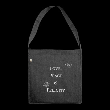 Love, Peace & Felicity - Schultertasche aus Recycling-Material