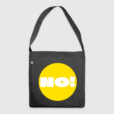 Point, Yellow, answer, reply, question, dot, nerd - Shoulder Bag made from recycled material