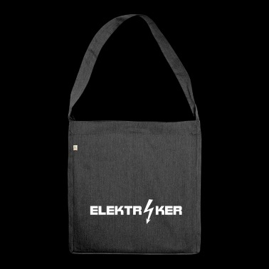 elektiriker, berufe, elektriker beruf, elektriker - Schultertasche aus Recycling-Material