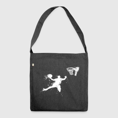 Slam dunking basketball player - Shoulder Bag made from recycled material
