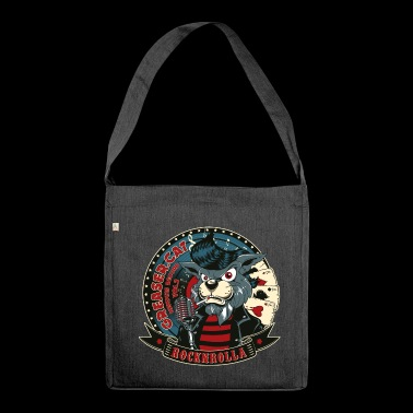 BAD CATER- Funny RocknRoll cat gift - Shoulder Bag made from recycled material