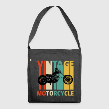 Vintage Motorcycle Gifts for the wild. Dad,grandad - Shoulder Bag made from recycled material