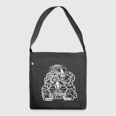 Wedding Monster - Skeletons (white) - Shoulder Bag made from recycled material