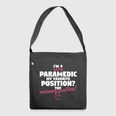 Sexy Paramedic - Recovery Position - Shoulder Bag made from recycled material