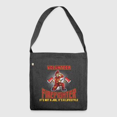 VOLUNTEER FIREFIGHTER - Shoulder Bag made from recycled material