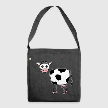 Funny cow with udder - Shoulder Bag made from recycled material