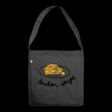Chicken Stripes - Schultertasche aus Recycling-Material