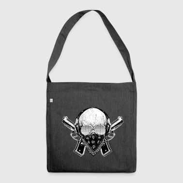 Gangster Skull Badass - Skull Hip Hop Rap Swag - Shoulder Bag made from recycled material