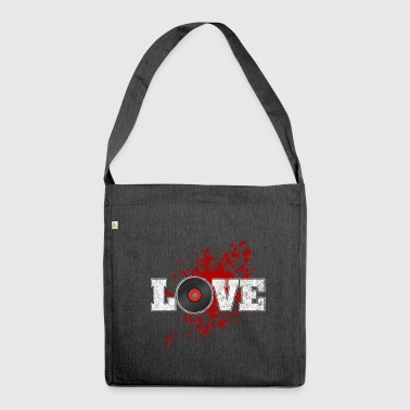 i love vinyl - Schultertasche aus Recycling-Material