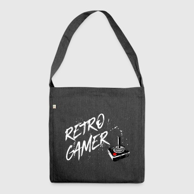 Retro gamer - gaming vintage retro joystick game - Shoulder Bag made from recycled material