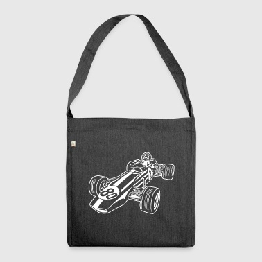 Race Car / Race Car 02_white - Shoulder Bag made from recycled material