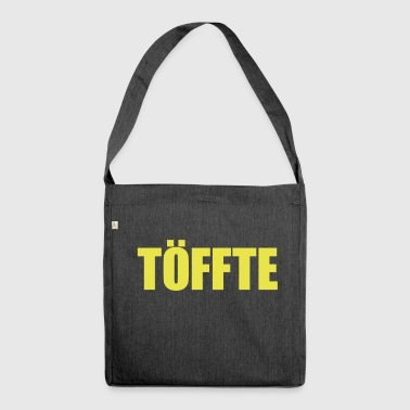 Töffte Typo - Schultertasche aus Recycling-Material