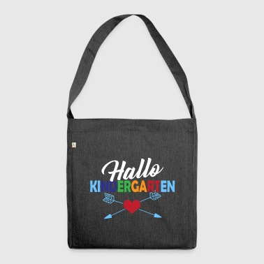 Hello kindergarten - Shoulder Bag made from recycled material