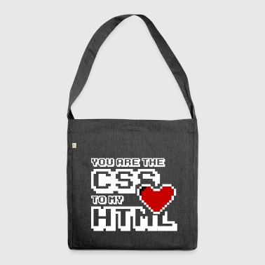 You are the css to my html - Torba na ramię z materiału recyklingowego