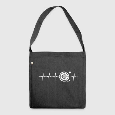I love Darts (darts heartbeat) - Shoulder Bag made from recycled material