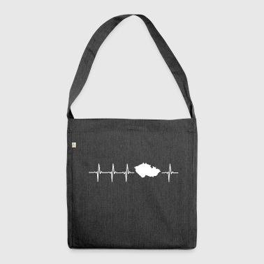 I like the Czech Republic (Czech Republic heartbeat) - Shoulder Bag made from recycled material