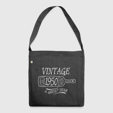 Vintage 1950 year of birth vintage - Shoulder Bag made from recycled material