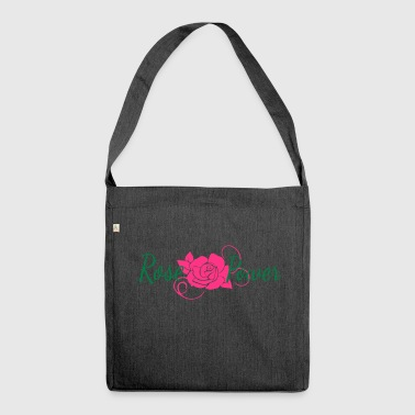 Rose Flower Power Flower - Borsa in materiale riciclato