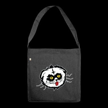 Black Metal Derp Cat - Shoulder Bag made from recycled material