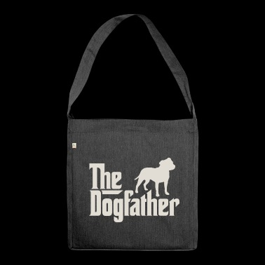 The Dogfather - Staffordshire Bullterrier - Schultertasche aus Recycling-Material