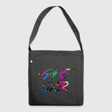 rainbow Game over - Shoulder Bag made from recycled material